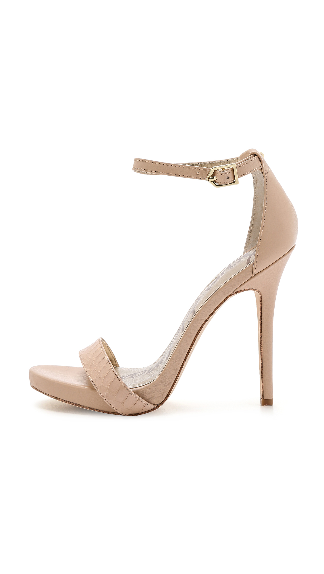 d7dc0887bb09 Lyst - Sam Edelman Eleanor Ankle Strap Sandals - Buff Nude in Natural