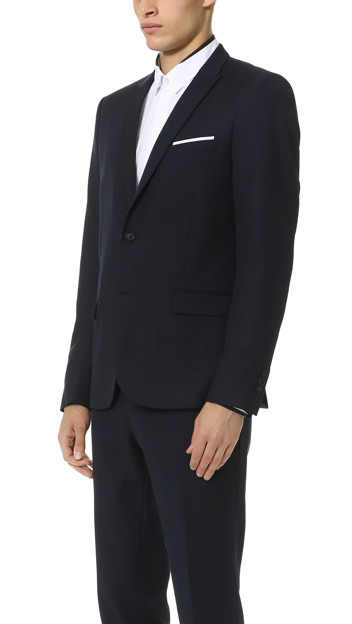 c3c576e53a The Kooples Super 100s Suit Jacket in Blue for Men - Lyst
