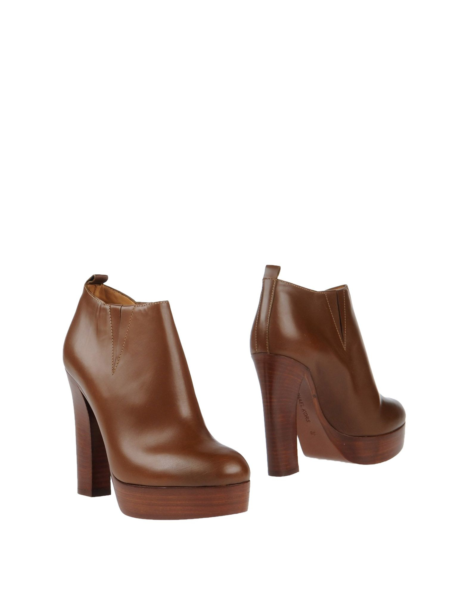 michael kors ankle boots in brown lyst male models picture