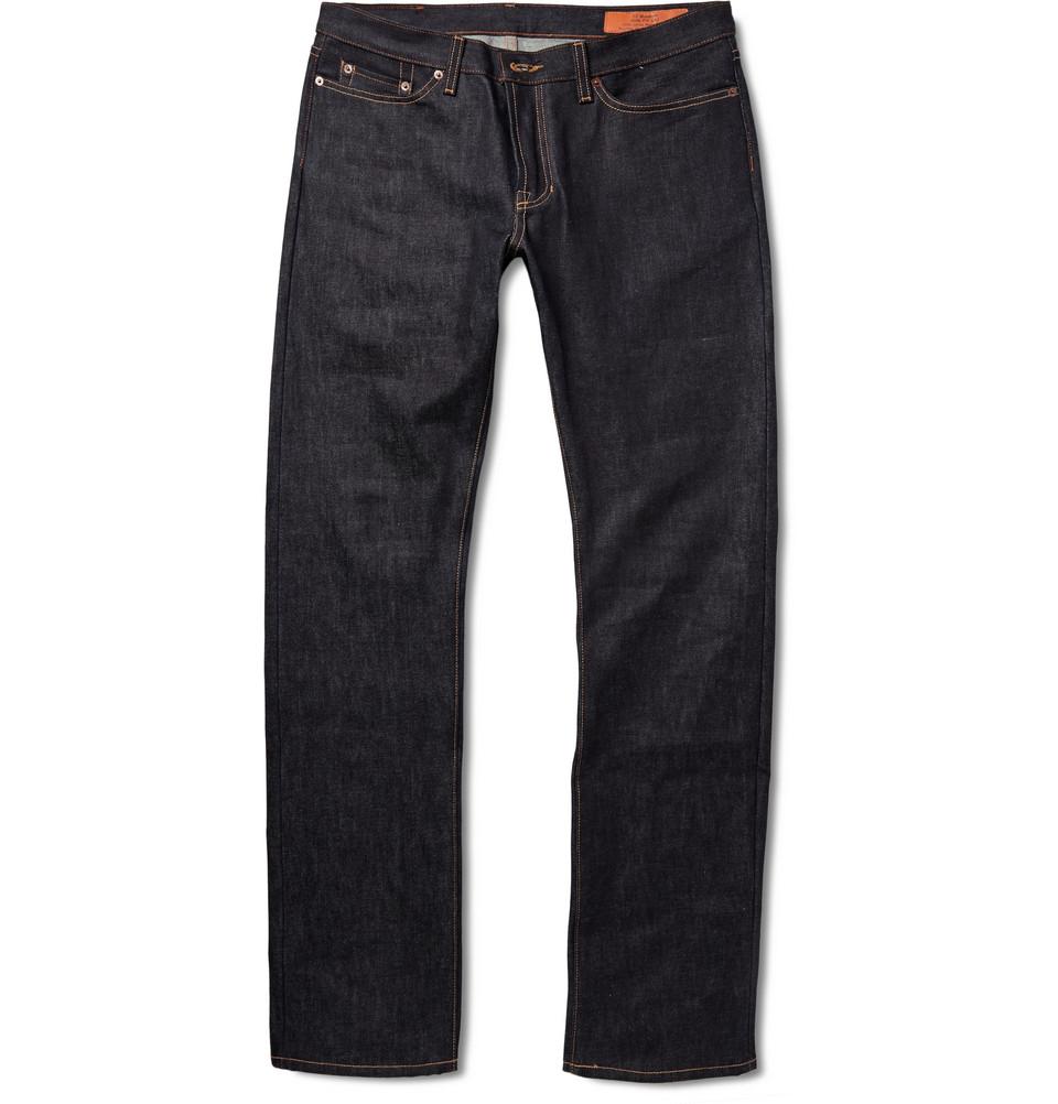 Jean Shop Selvedge Raw Denim Jeans in Blue for Men