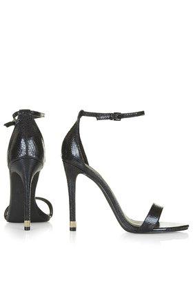 fbc0a2d4b9b TOPSHOP Ruby Snake-Effect High Heel Sandals in Black - Lyst
