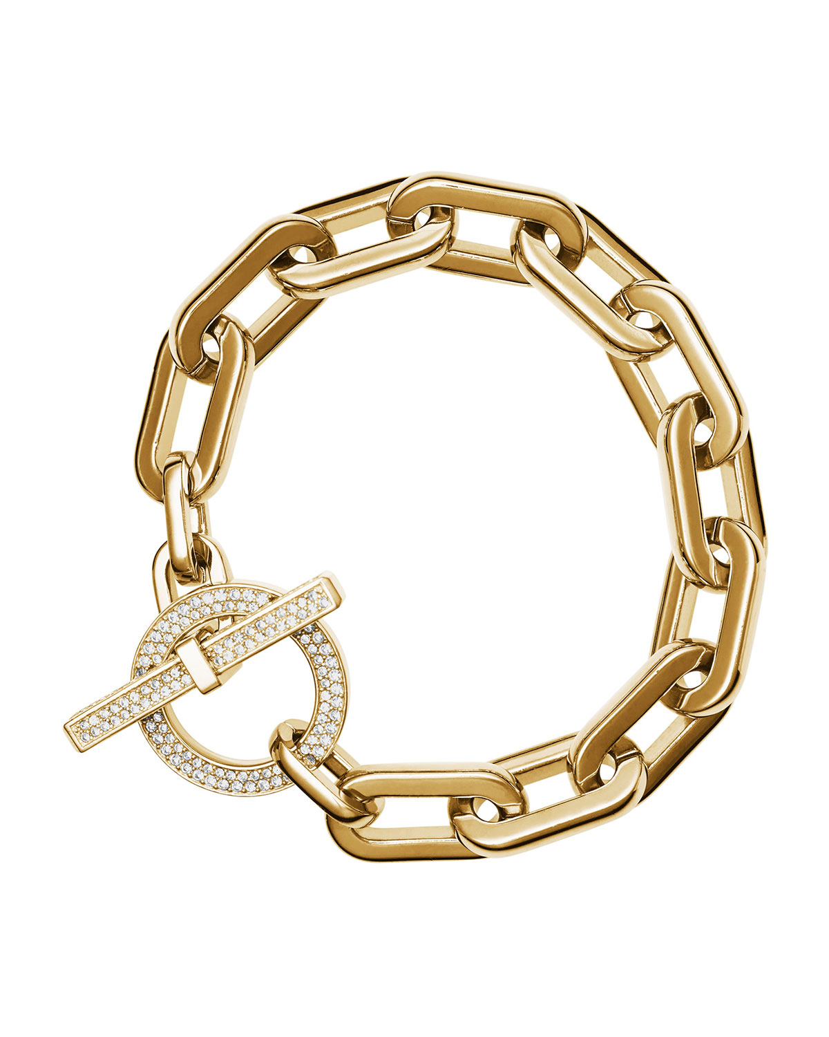 michael kors cityscape link toggle bracelet in metallic lyst
