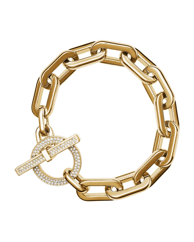 michael kors cityscape link toggle bracelet in metallic lyst. Black Bedroom Furniture Sets. Home Design Ideas