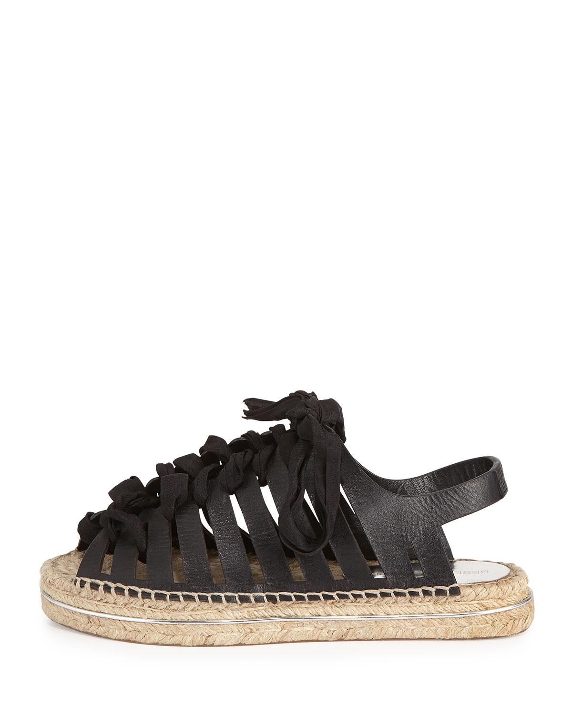 03a8e53af88f Lyst - Rebecca Minkoff Gemma Leather Espadrille Sandal in Black