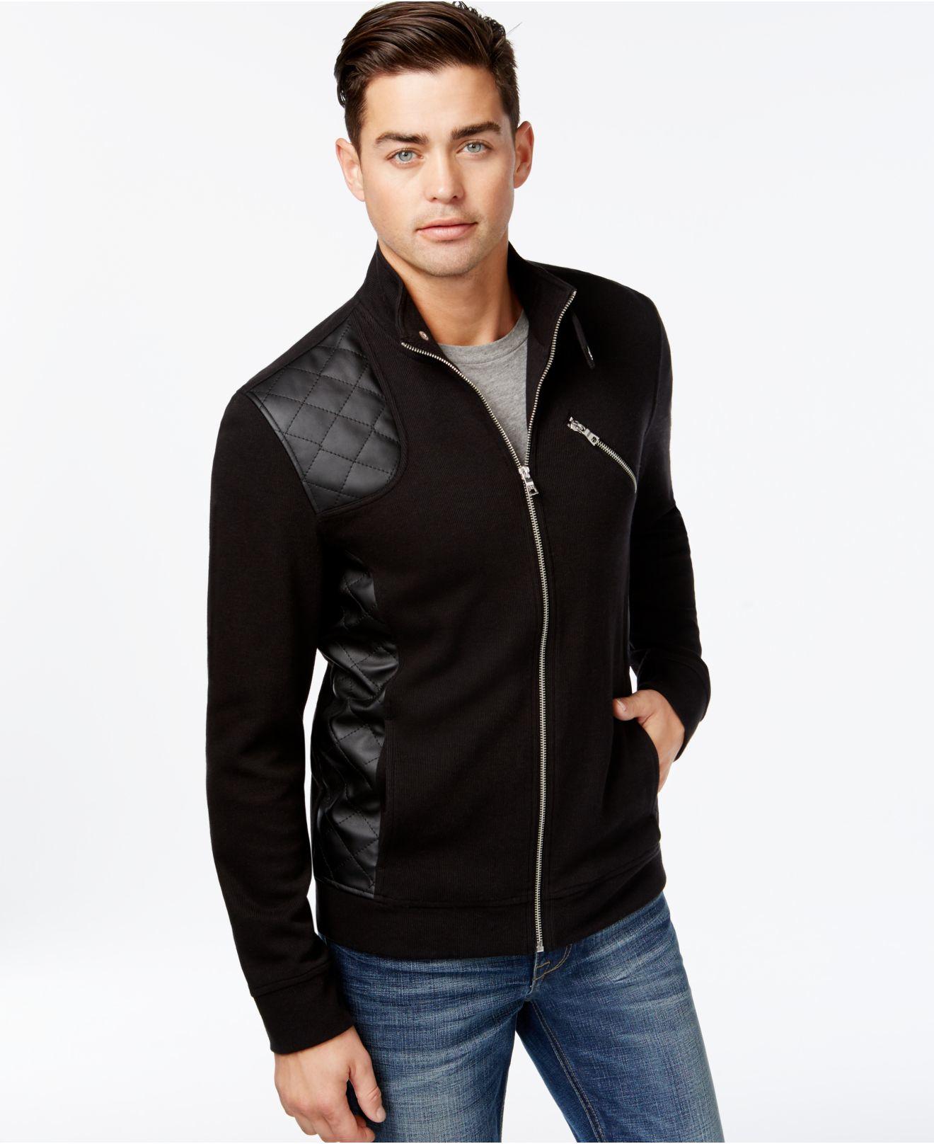 Inc International Concepts Men S Faux Leather Hydro Knit