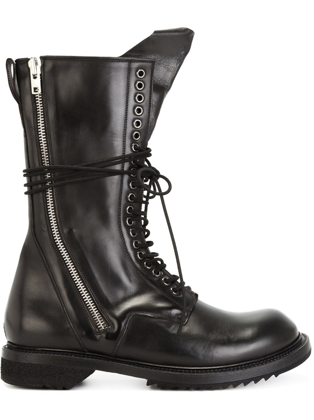 lace-up army boots - Black Rick Owens EElAZC