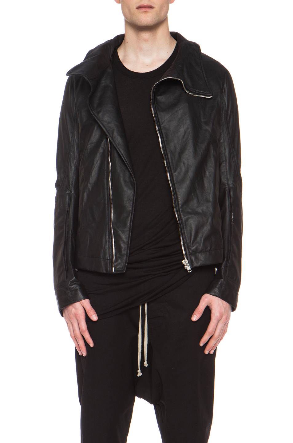 lyst rick owens bauhaus jacket in black. Black Bedroom Furniture Sets. Home Design Ideas