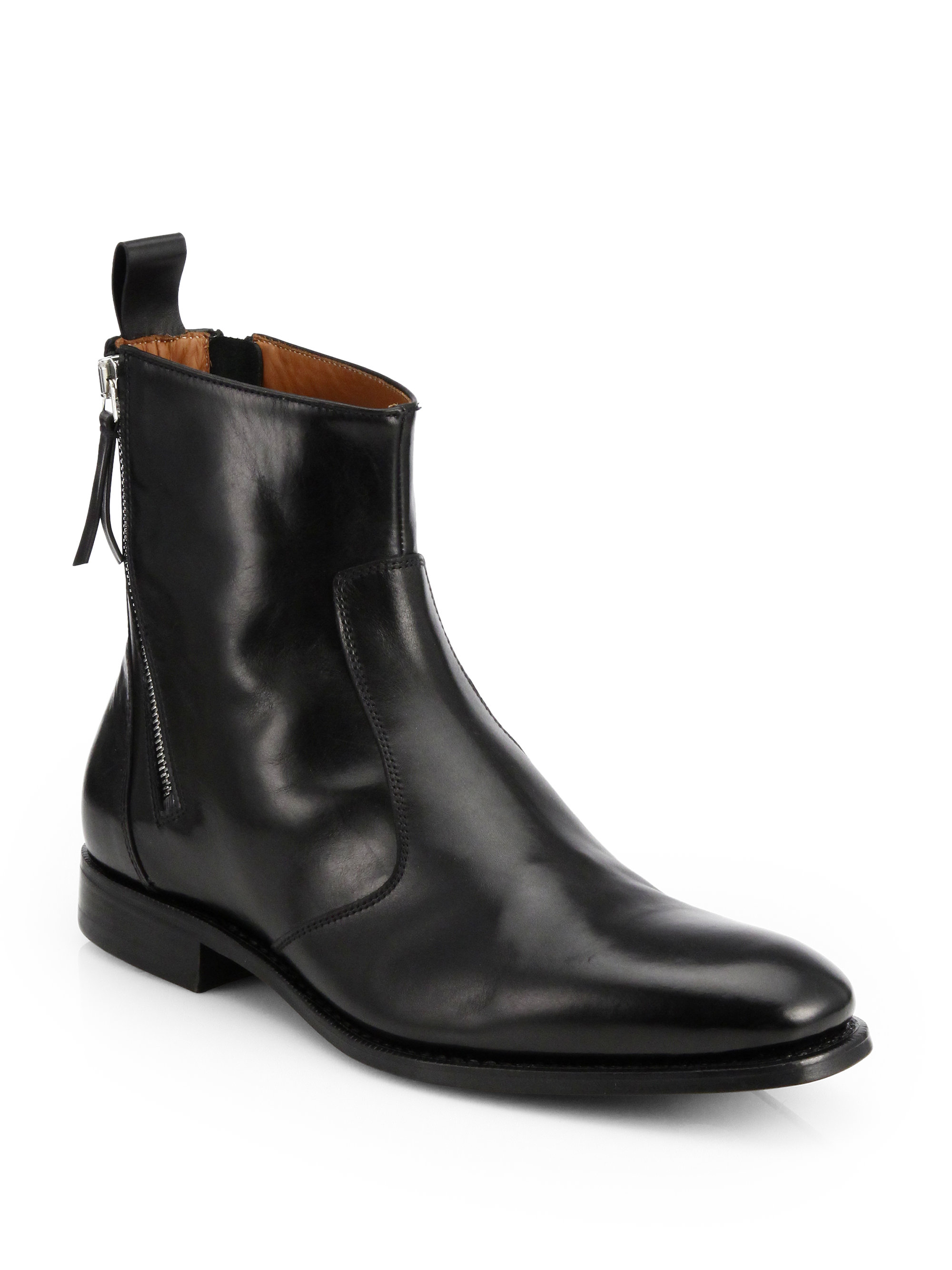 Givenchy Leather Tuxedo Boots In Black For Men Lyst