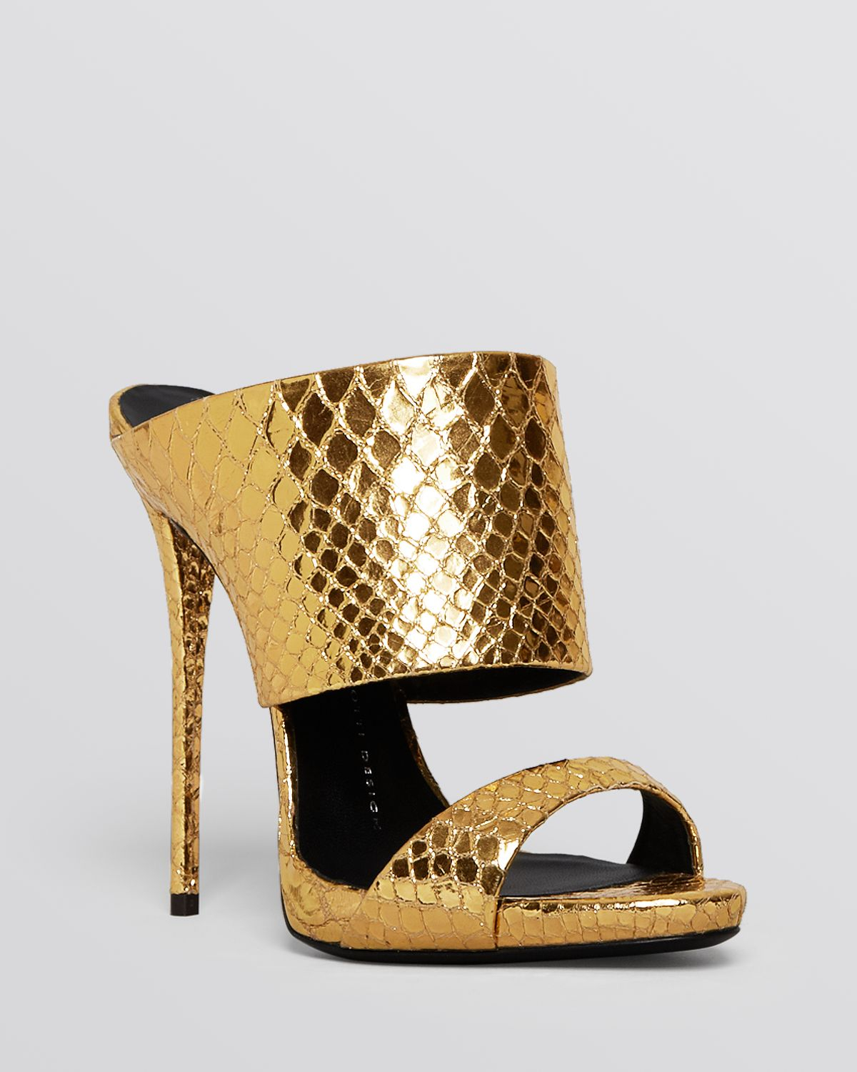 buy cheap prices Giuseppe Zanotti Snakeskin Slide Sandals discount huge surprise cheap sale store free shipping discounts n3TYoas