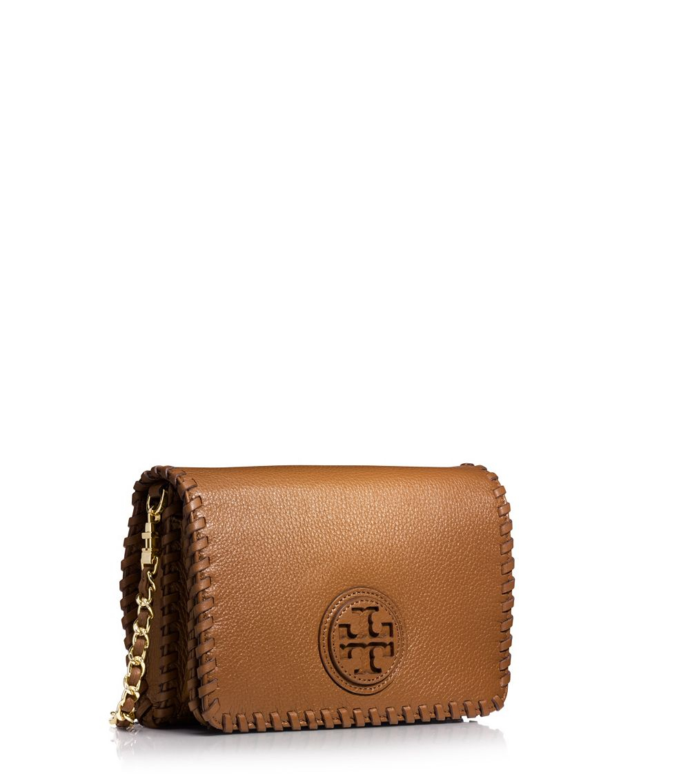 Tory Burch Marion Combo Cross Body In Brown Lyst