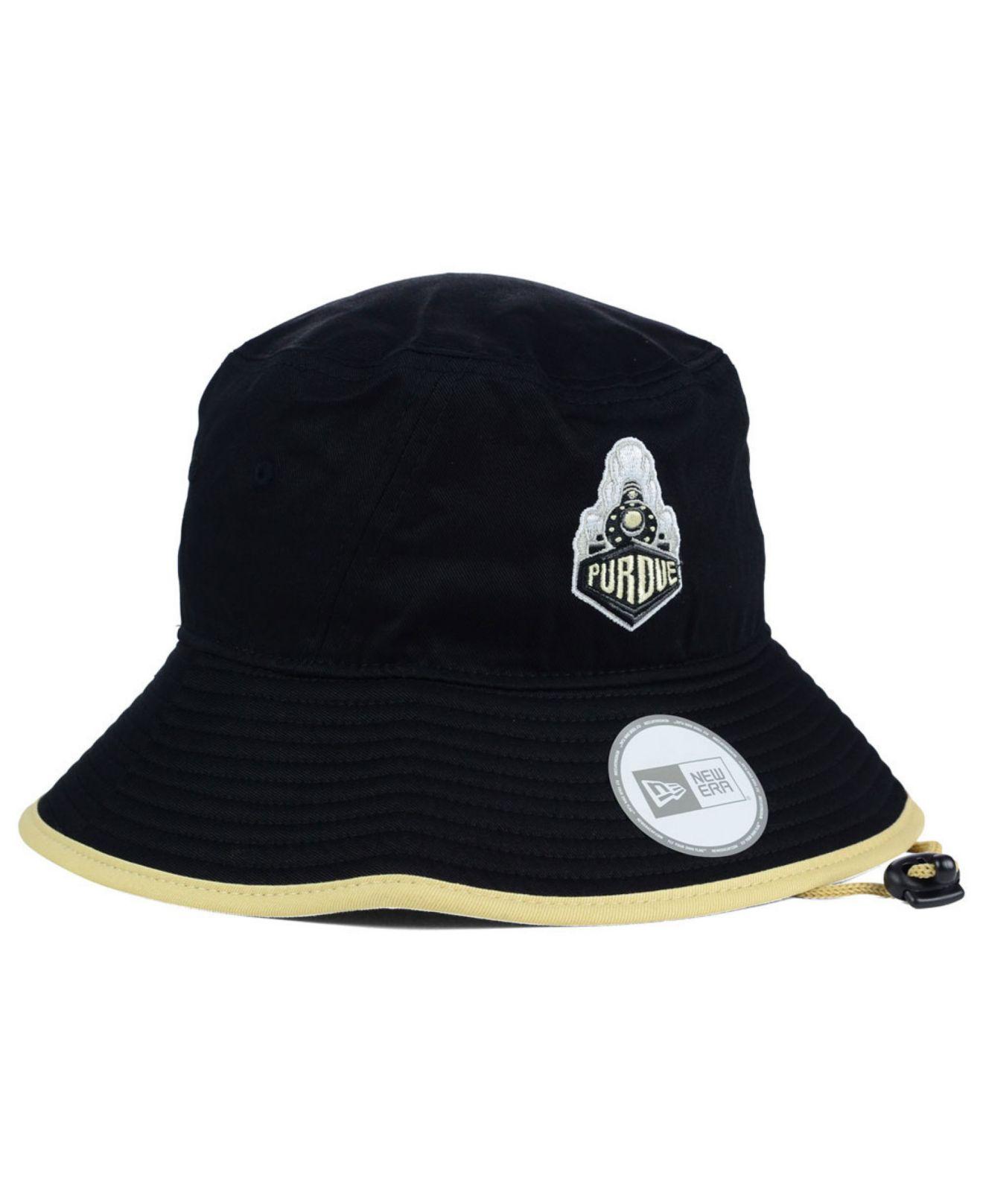 Lyst - Ktz Purdue Boilermakers Tip Bucket Hat in Black for Men