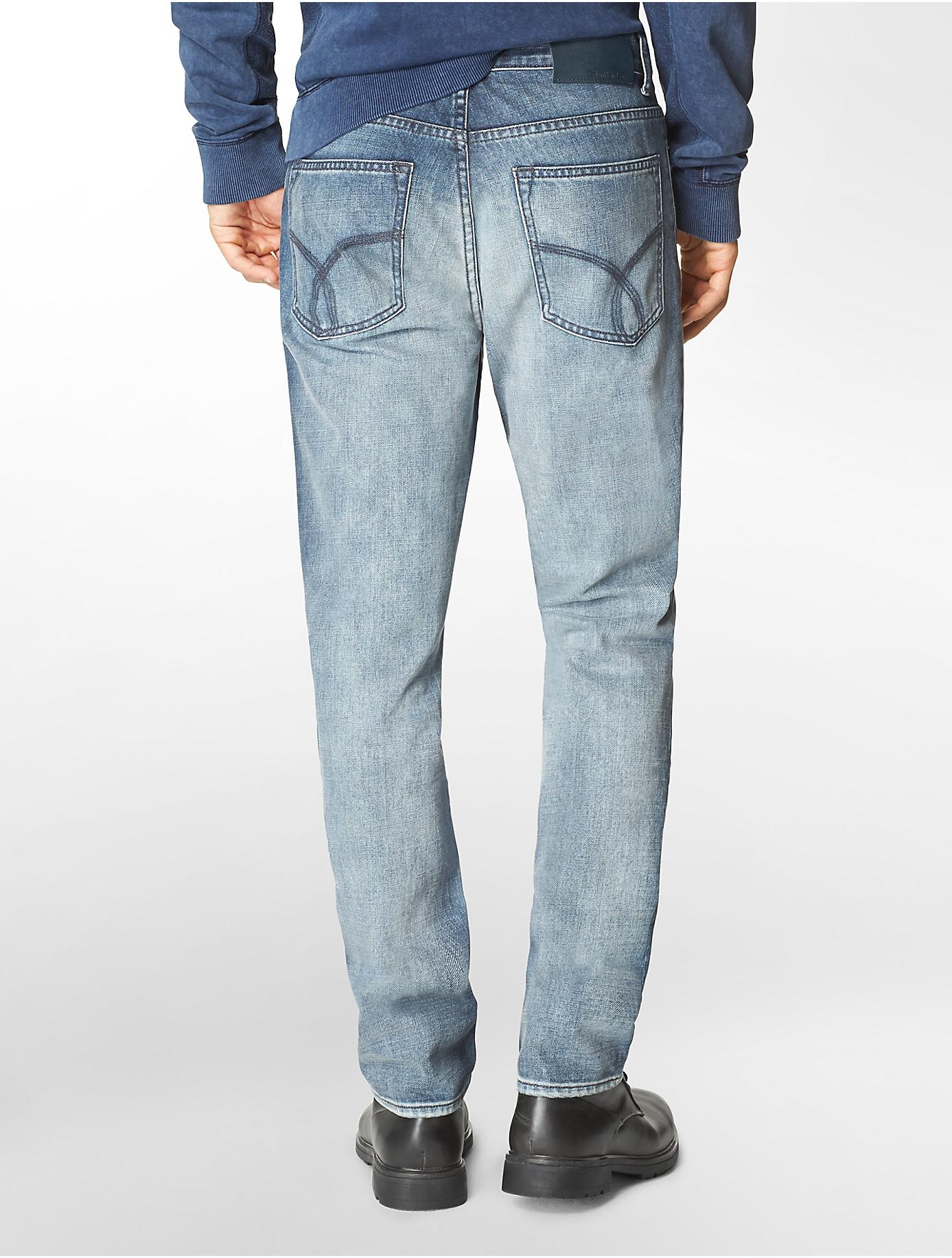 calvin klein jeans slim straight leg chalked indigo wash. Black Bedroom Furniture Sets. Home Design Ideas