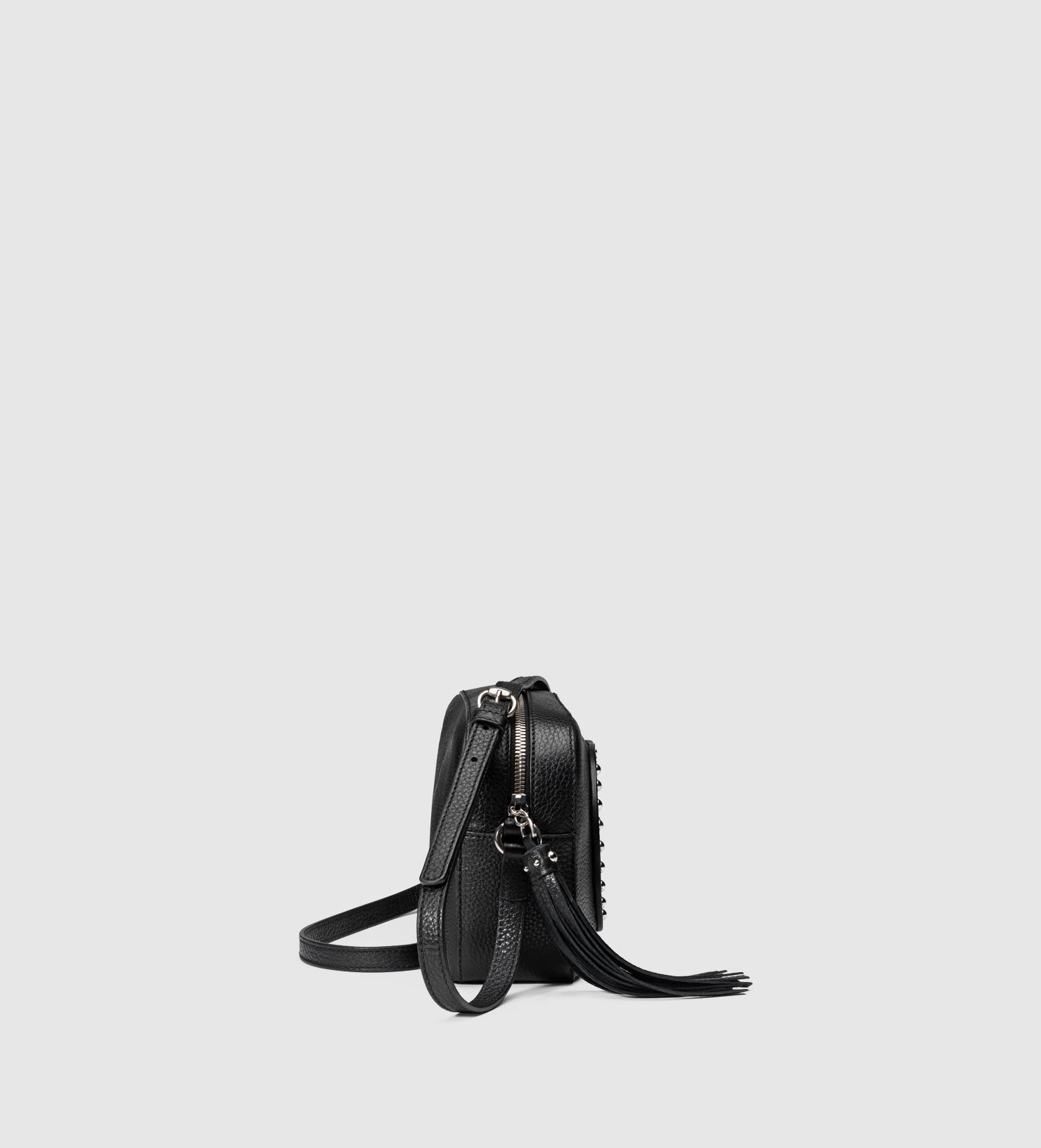 6c6b7a42b1be Gucci Soho Studded Leather Disco Bag in Black - Lyst