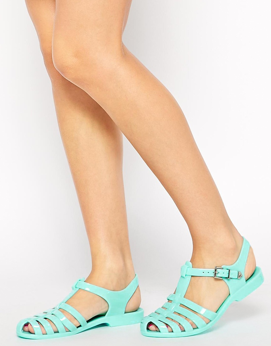 3d87dc797976 Lyst - ASOS Fruity Jelly Sandals in Green
