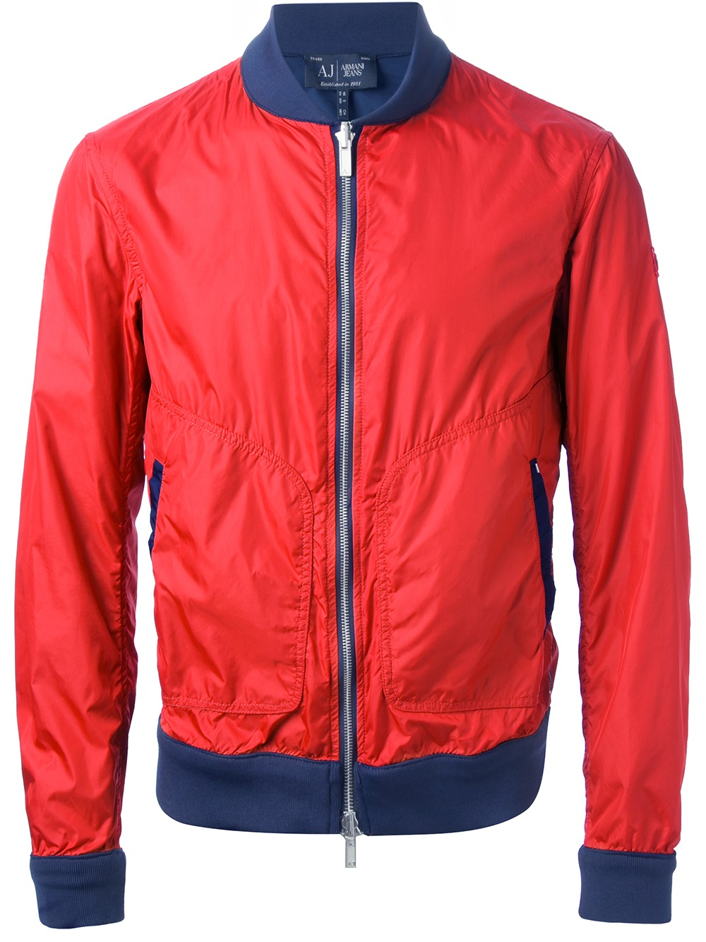 ac7d558f6 Armani Jeans Red Reversible Bomber Jacket for men