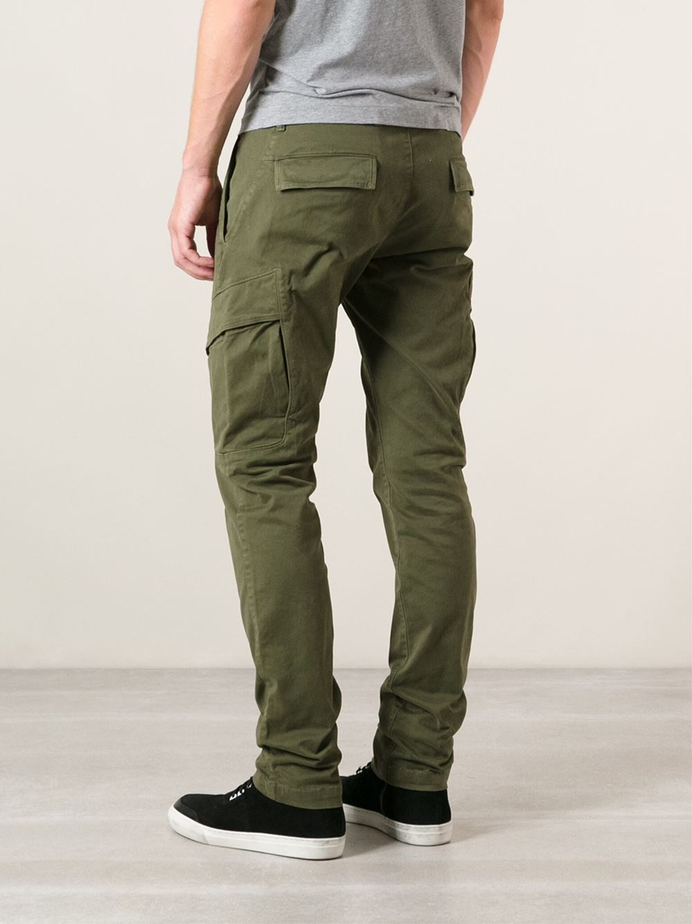 Lyst Stone Island Skinny Cargo Trousers In Green For Men