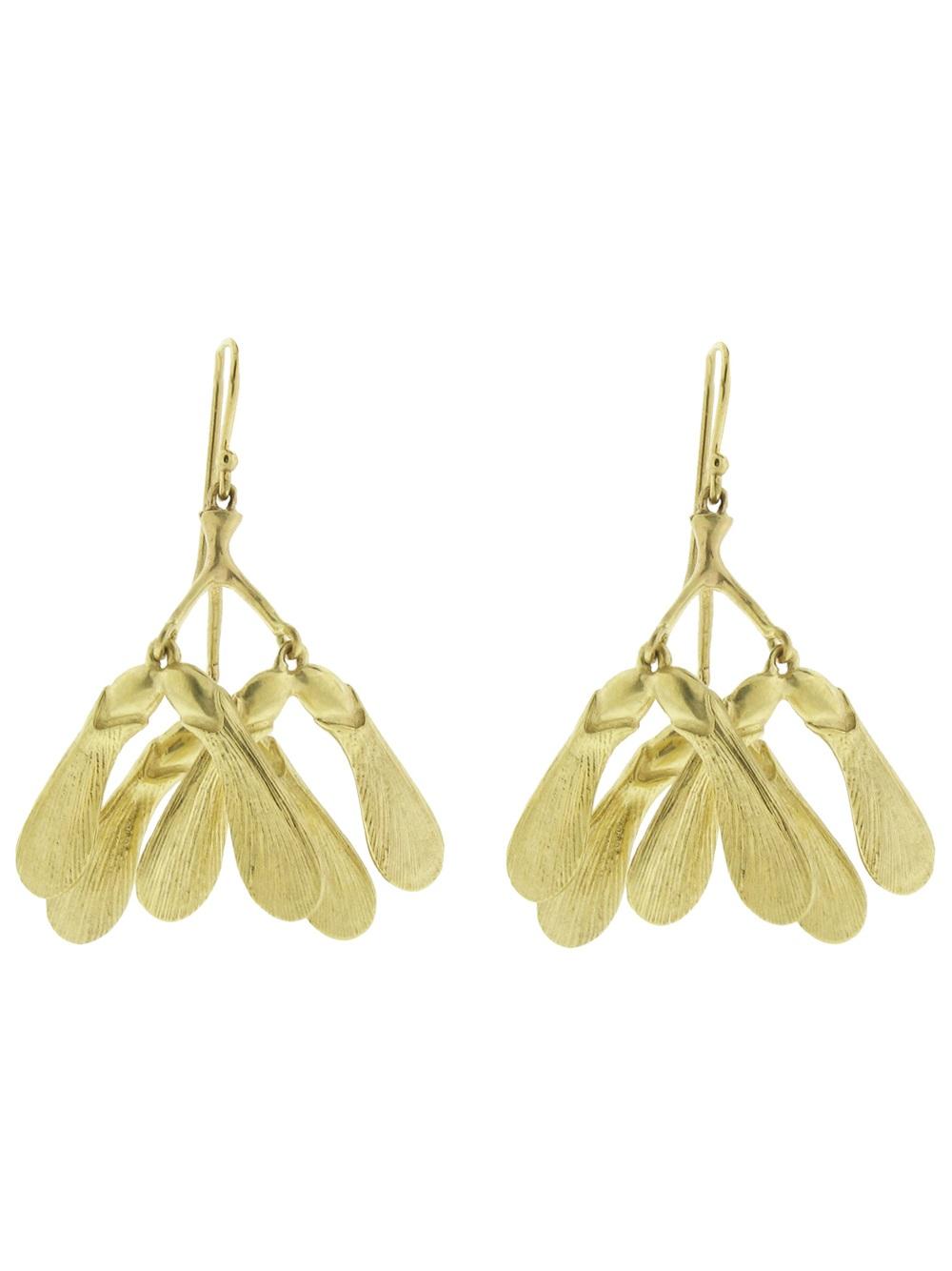 Annette Ferdinandsen Maple Seed Cluster Earring in Metallic
