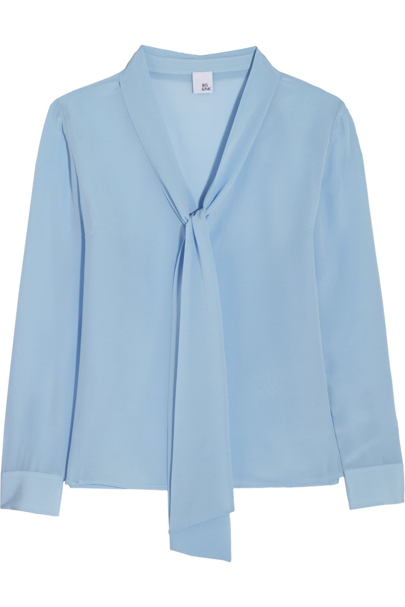 7641914dcb1fd Iris   Ink Liliana Pussy-bow Silk Crepe De Chine Blouse in Blue - Lyst
