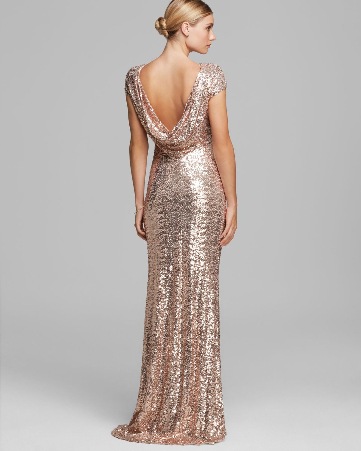 badgley mischka pink gown cowlneck back cap sleeve sequin gowns product 1 19478111 1 182088875 normal