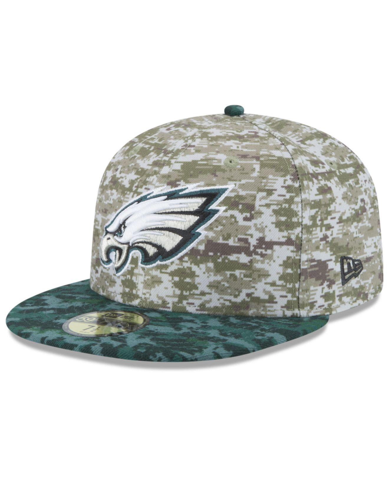 Lyst - Ktz Philadelphia Eagles Salute To Service 59fifty Cap in ... 18f1ce6422c7