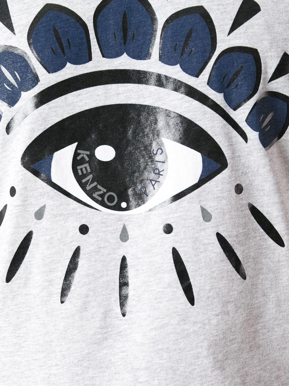 Lyst Kenzo Eye Print Tshirt In Gray For Men