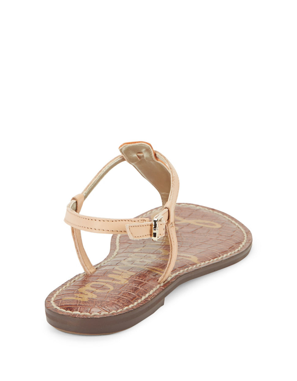 Sam Edelman Gigi Leather Thong Sandals In Orange Lyst