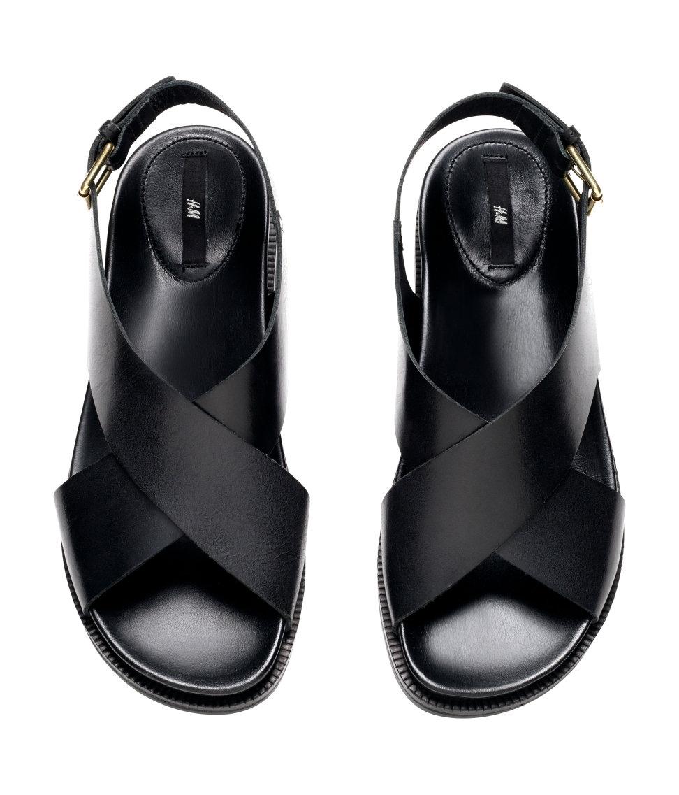 2220858dec9 H&M Black Leather Sandals