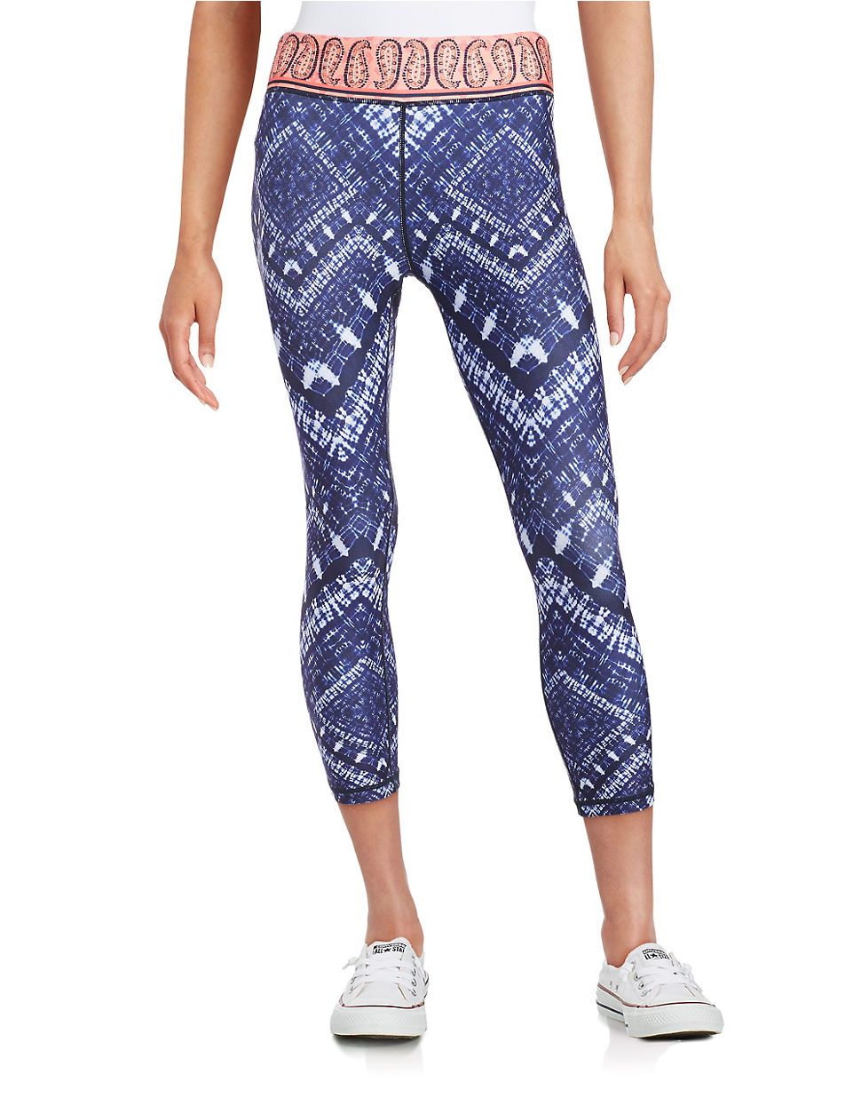 Nanette lepore Patterned Yoga Pants in Blue | Lyst