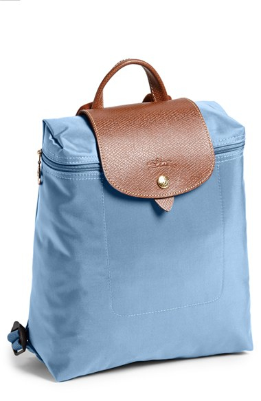 Longchamp Le Pliage Backpack In Blue Lyst