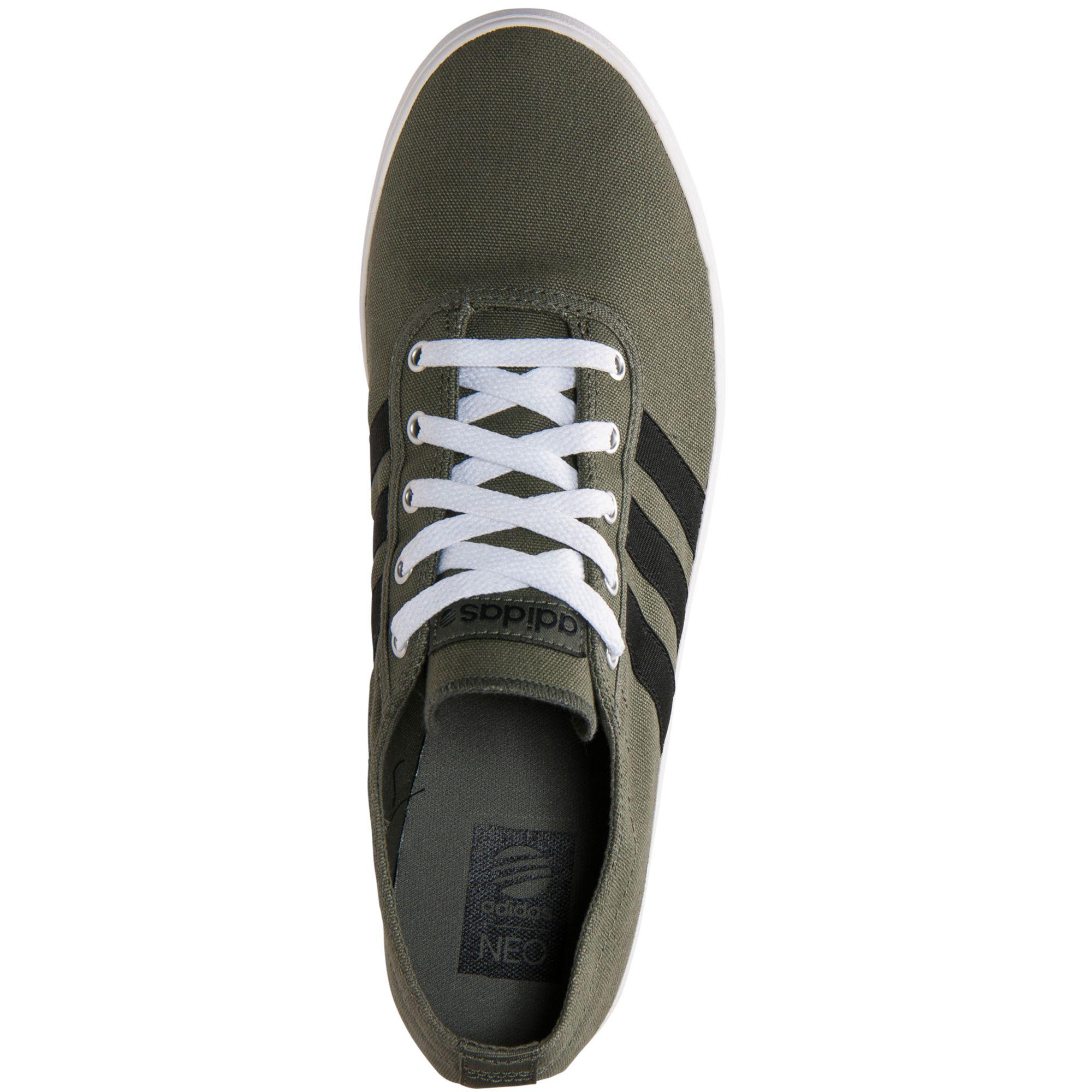 Adidas Men'S Neo Easy Vulc Ad Shoe Dark Green Black In