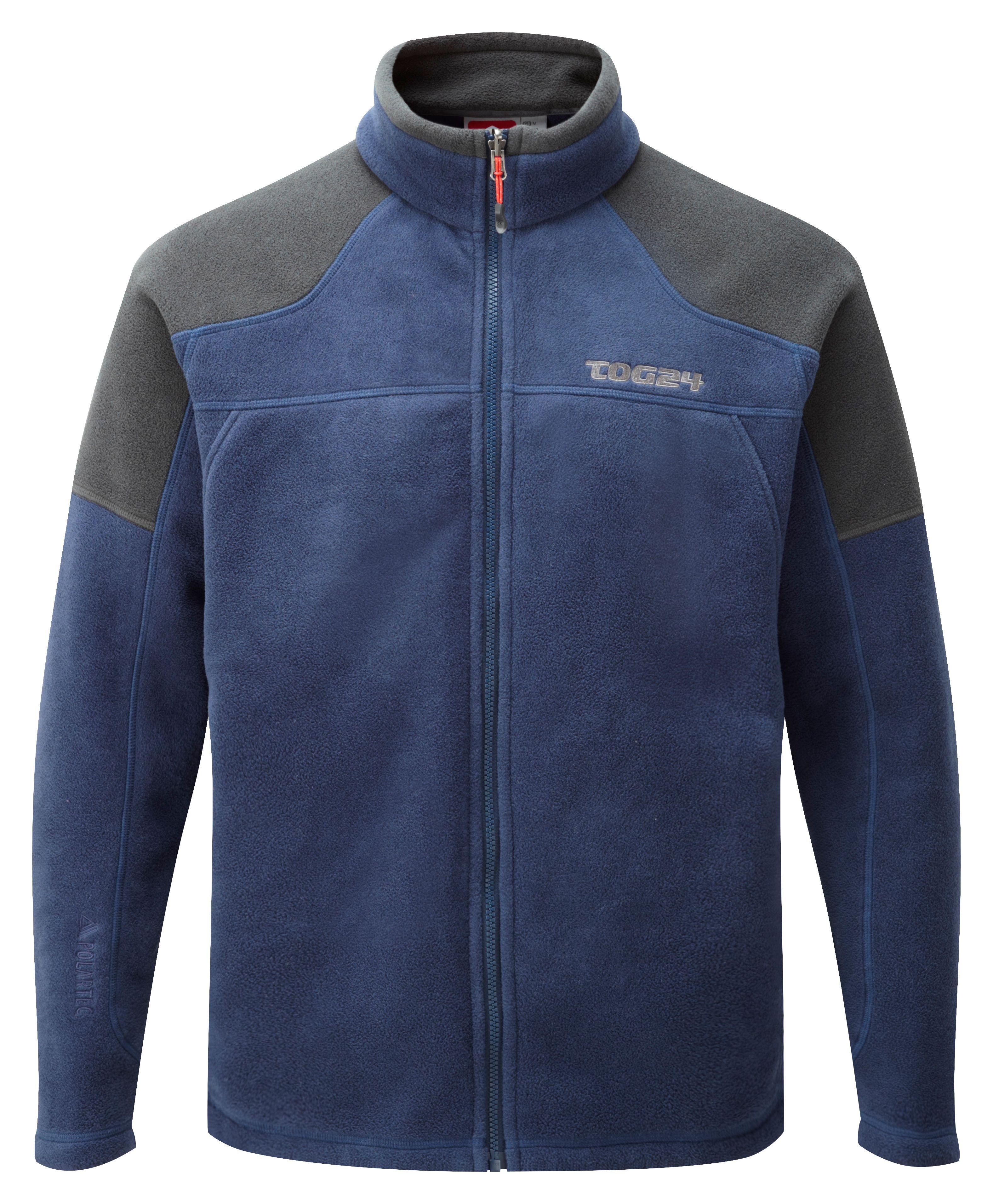 Tog 24 New Zealand Polartec Fleece Jacket In Blue For Men