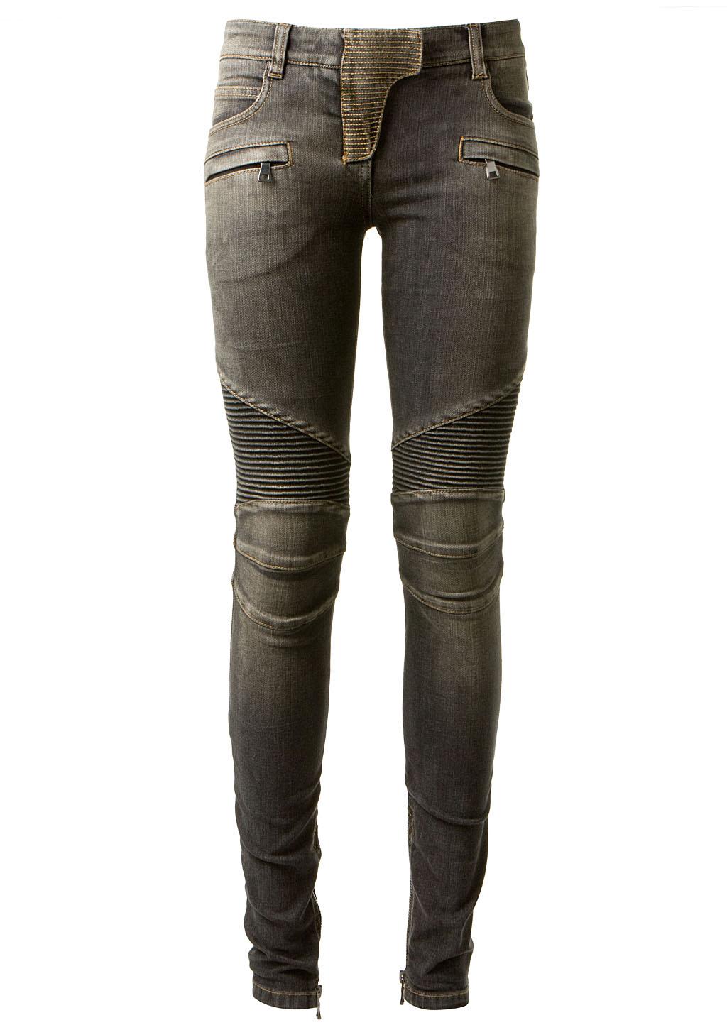 balmain black washed biker jeans in black lyst. Black Bedroom Furniture Sets. Home Design Ideas