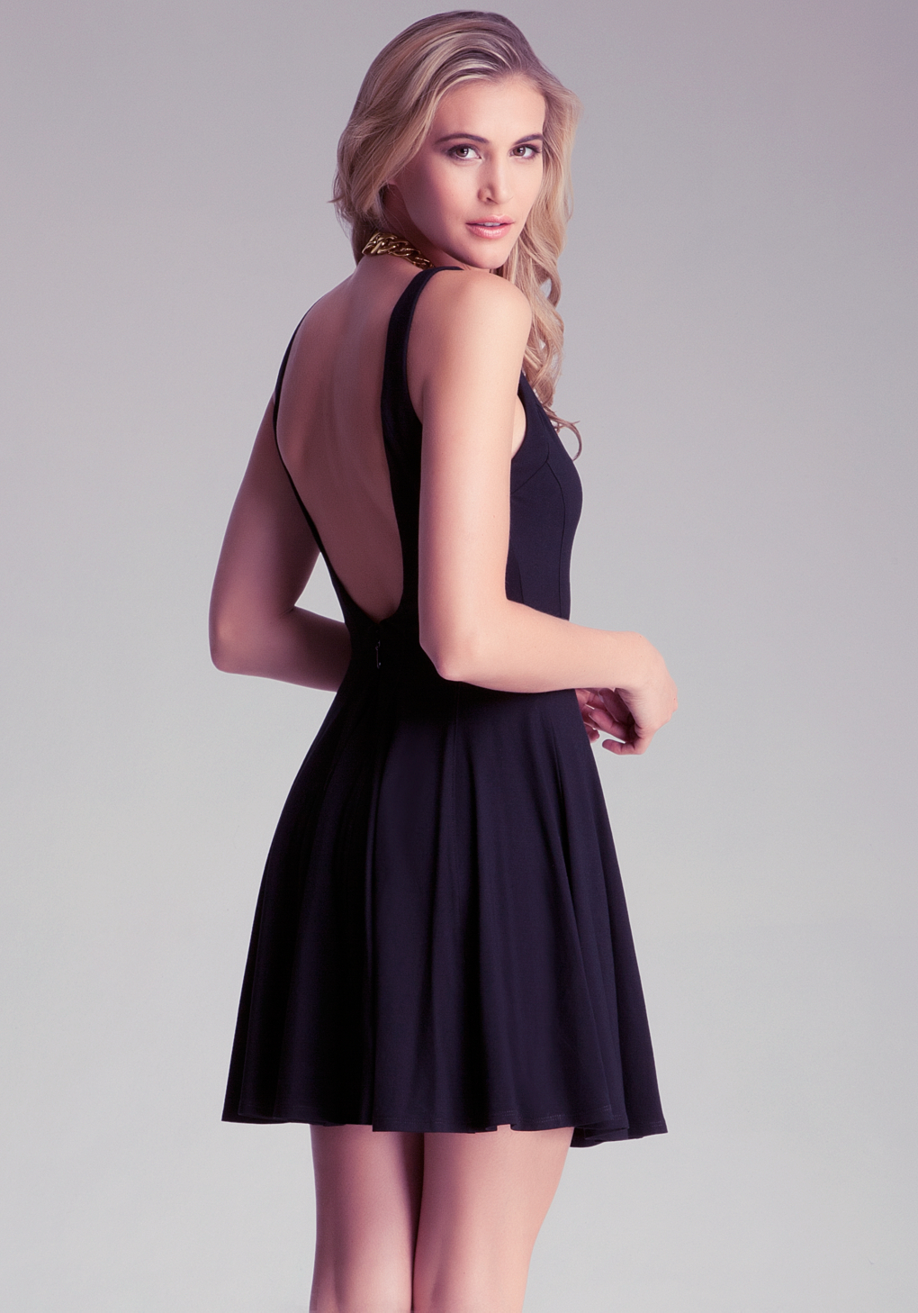 Bebe Fit N Flare Tank Dress In Black Lyst