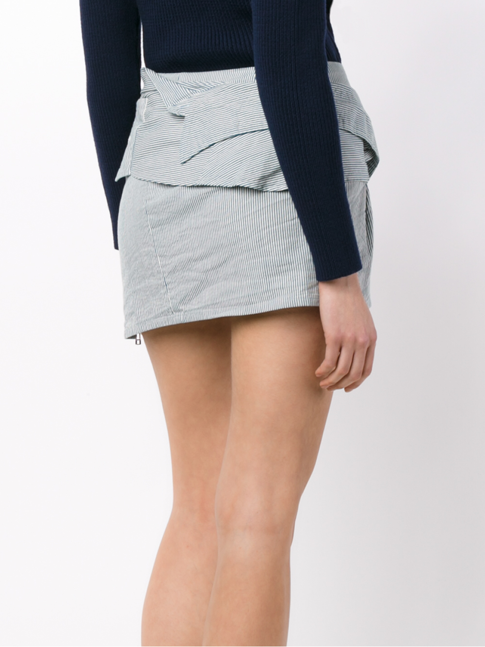 faith connexion striped shirt skirt in blue lyst