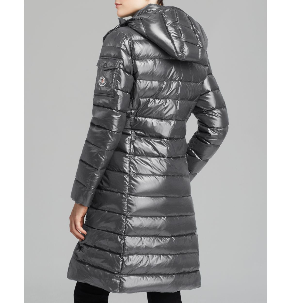 cc8a15bfbcf4 Lyst - Moncler Moka Mid Length Down Coat in Gray