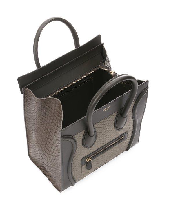 C��line Khaki Python Mini Luggage Tote Bag in Khaki | Lyst