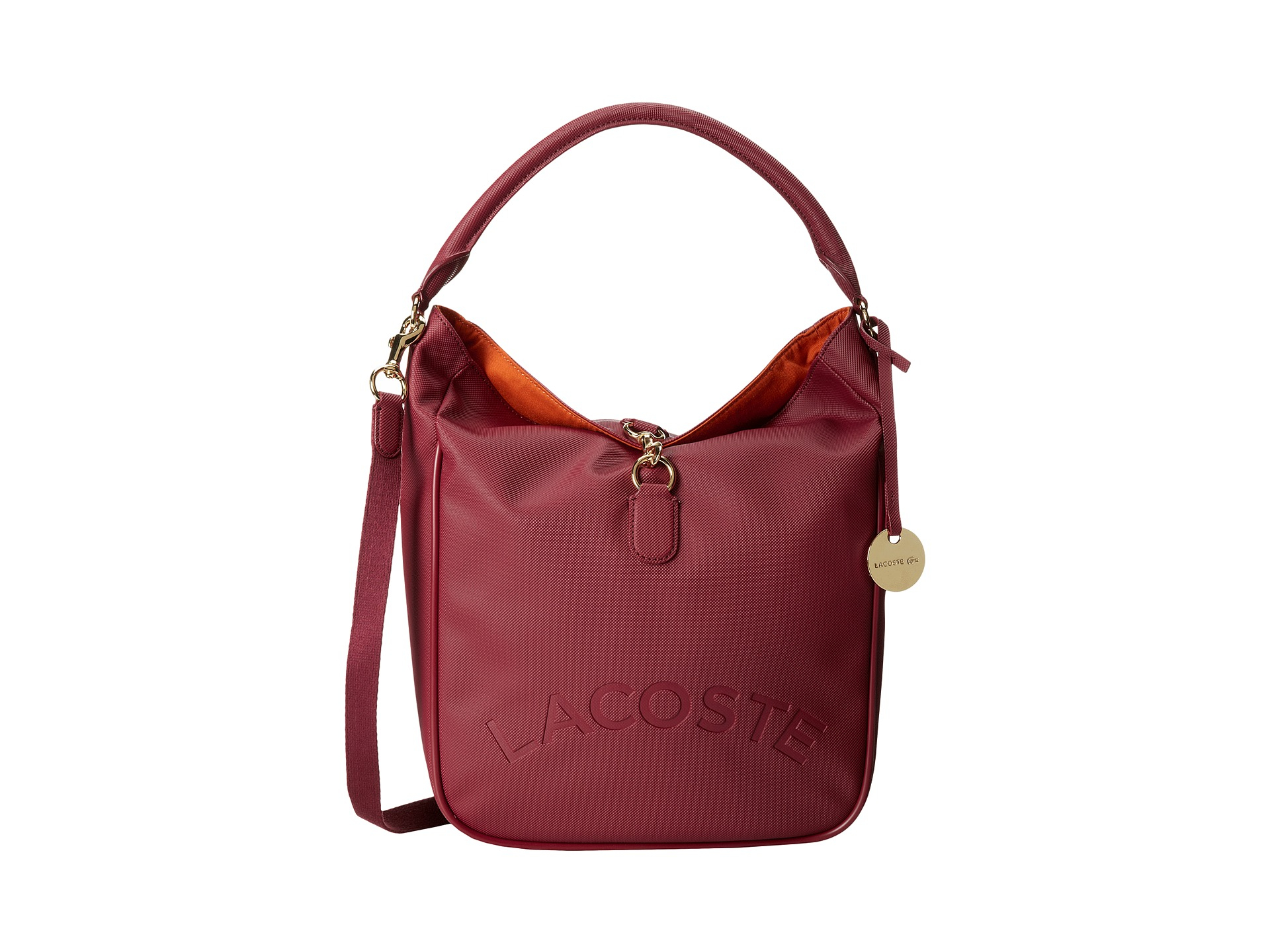 7120213f459404 Lyst - Lacoste Daily Classic Bucket Bag in Purple