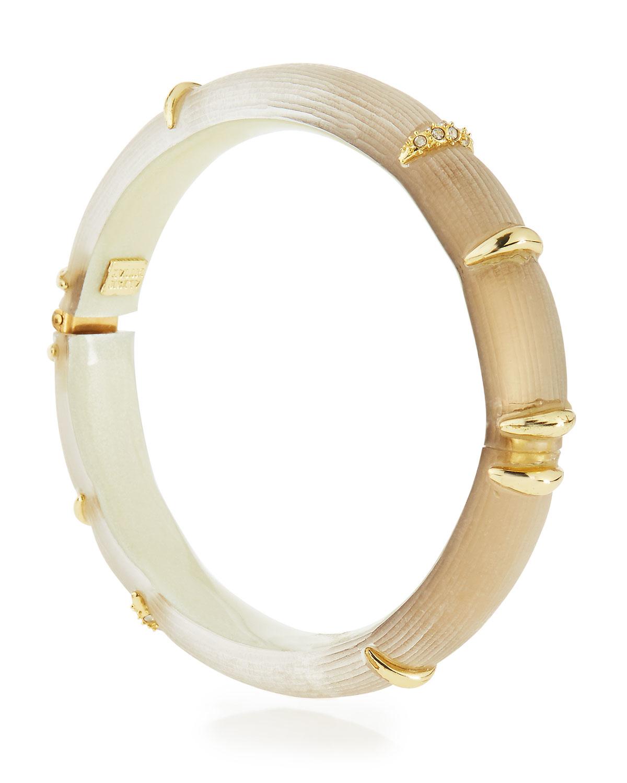 Alexis Bittar Studded Lucite Hinge Bracelet tCxEN