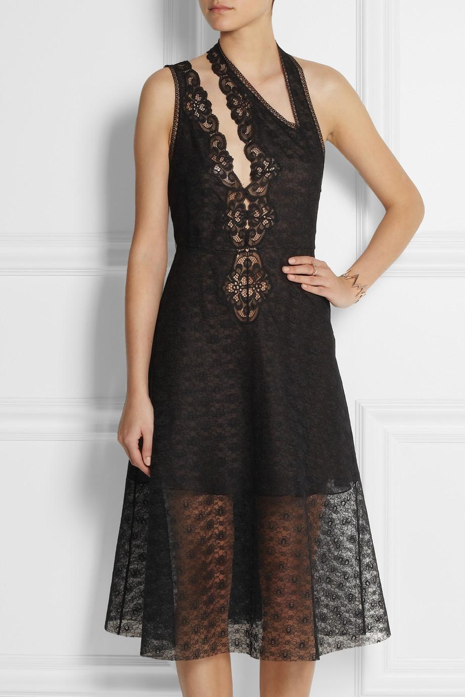 Lyst Stella Mccartney Caroline Cutout Lace Dress In Black