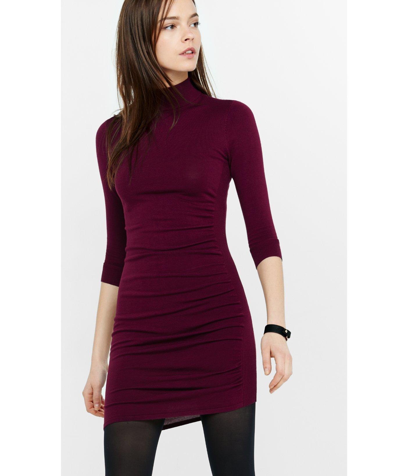 Red long sleeve dress express