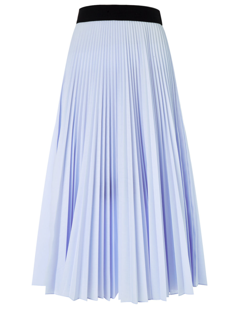 tome light blue accordion pleat skirt in blue lyst