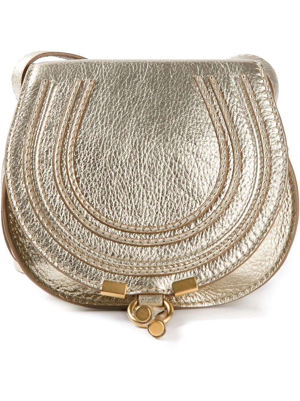 8fc3c90c Chloé Metallic Small Marcie Crossbody Bag