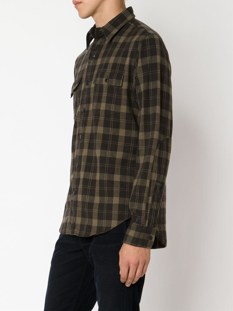 Lyst Rrl Plaid Shirt In Brown For Men