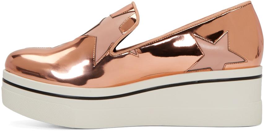 Stella McCartney Copper Star Platform Binx Sneakers in Metallic