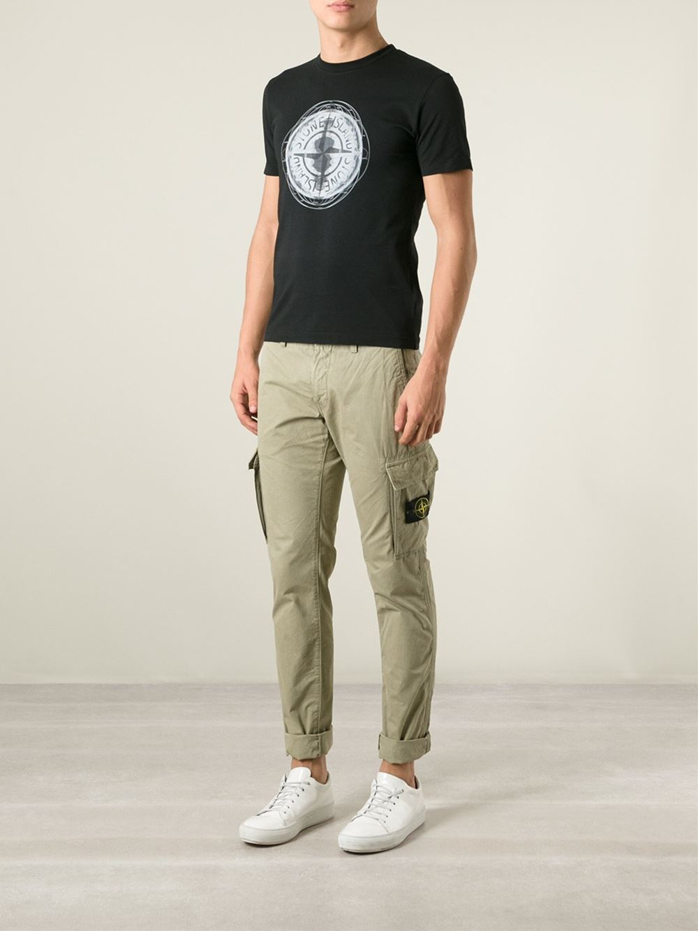 Stone island Cargo Trousers in Natural for Men | Lyst
