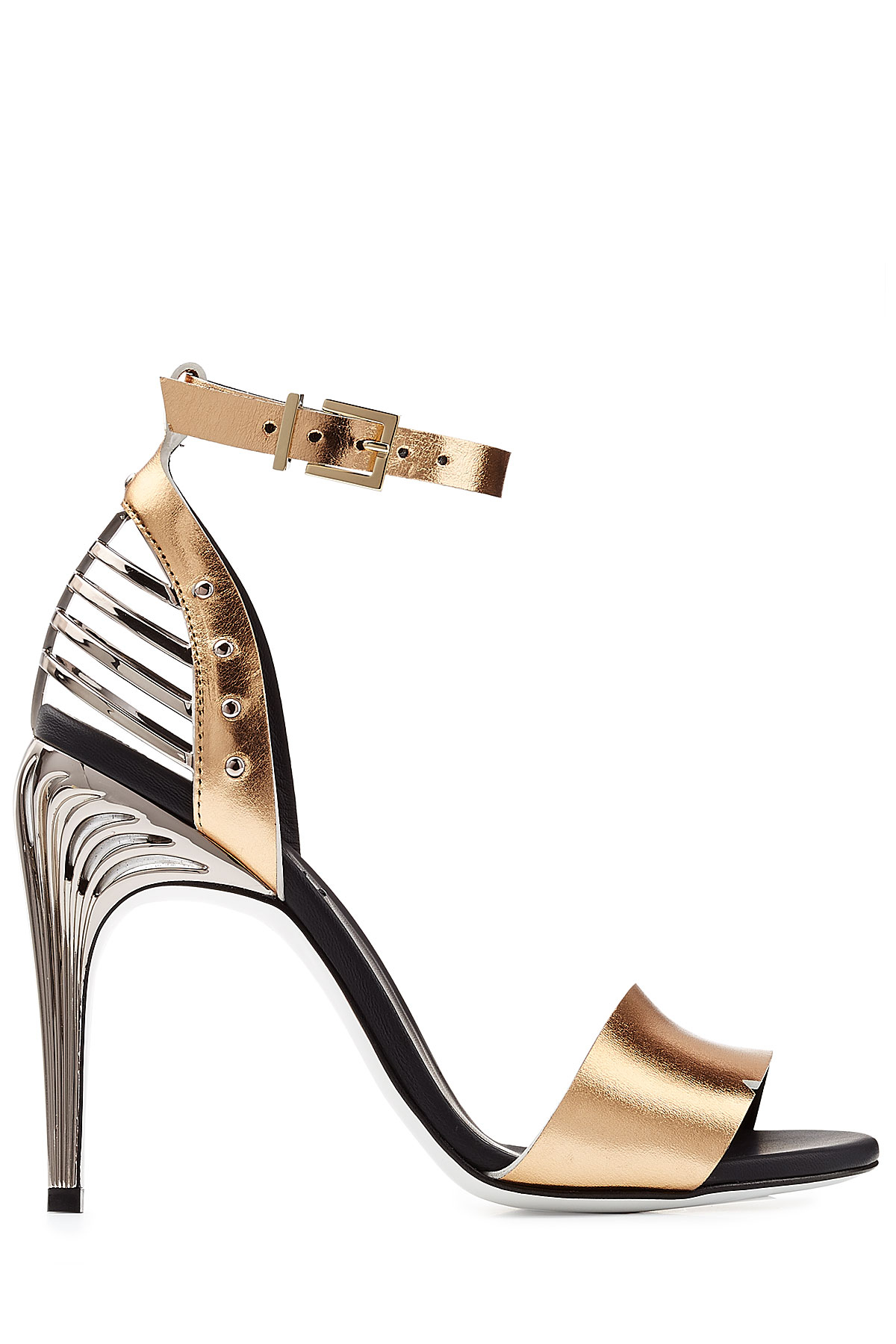 discount exclusive huge surprise online Fendi Metallic Leather Sandals excellent sale online best seller cheap online buy cheap for cheap LuoUr