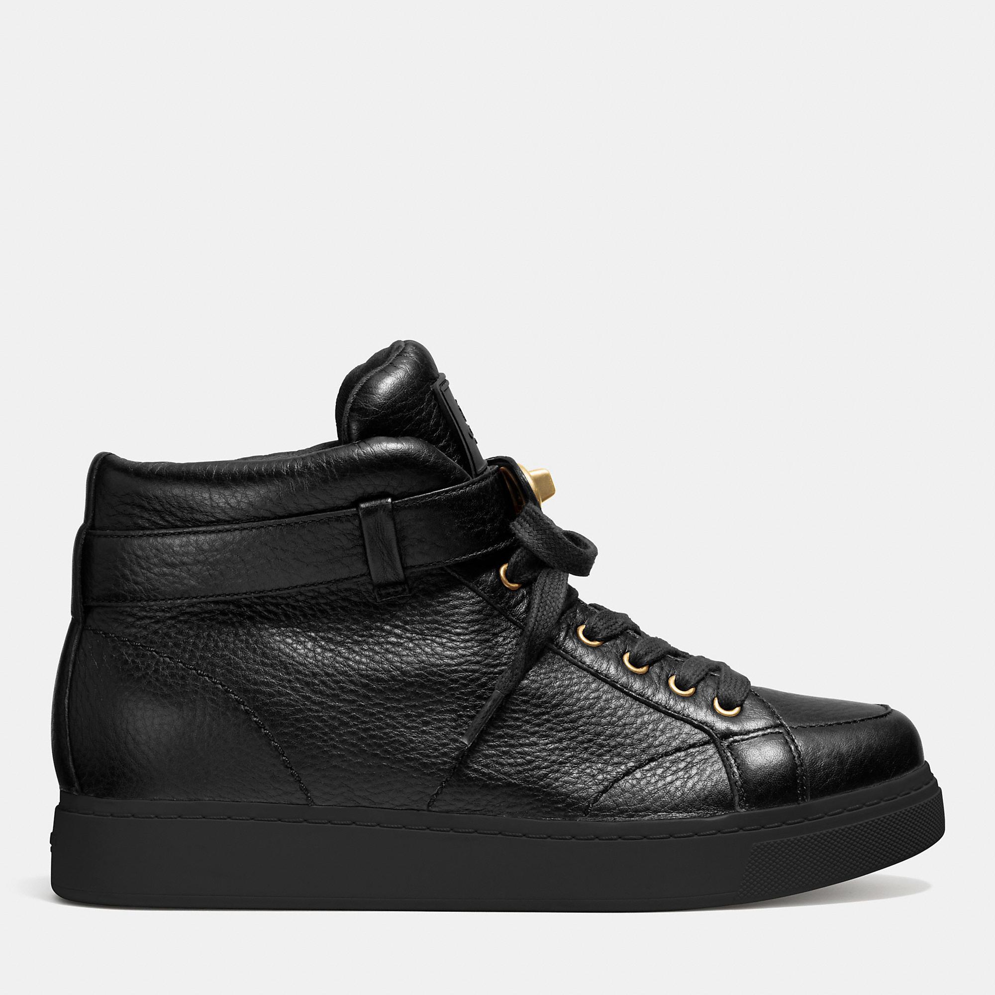 Coach Women S Turnlock High Top Shoes Black
