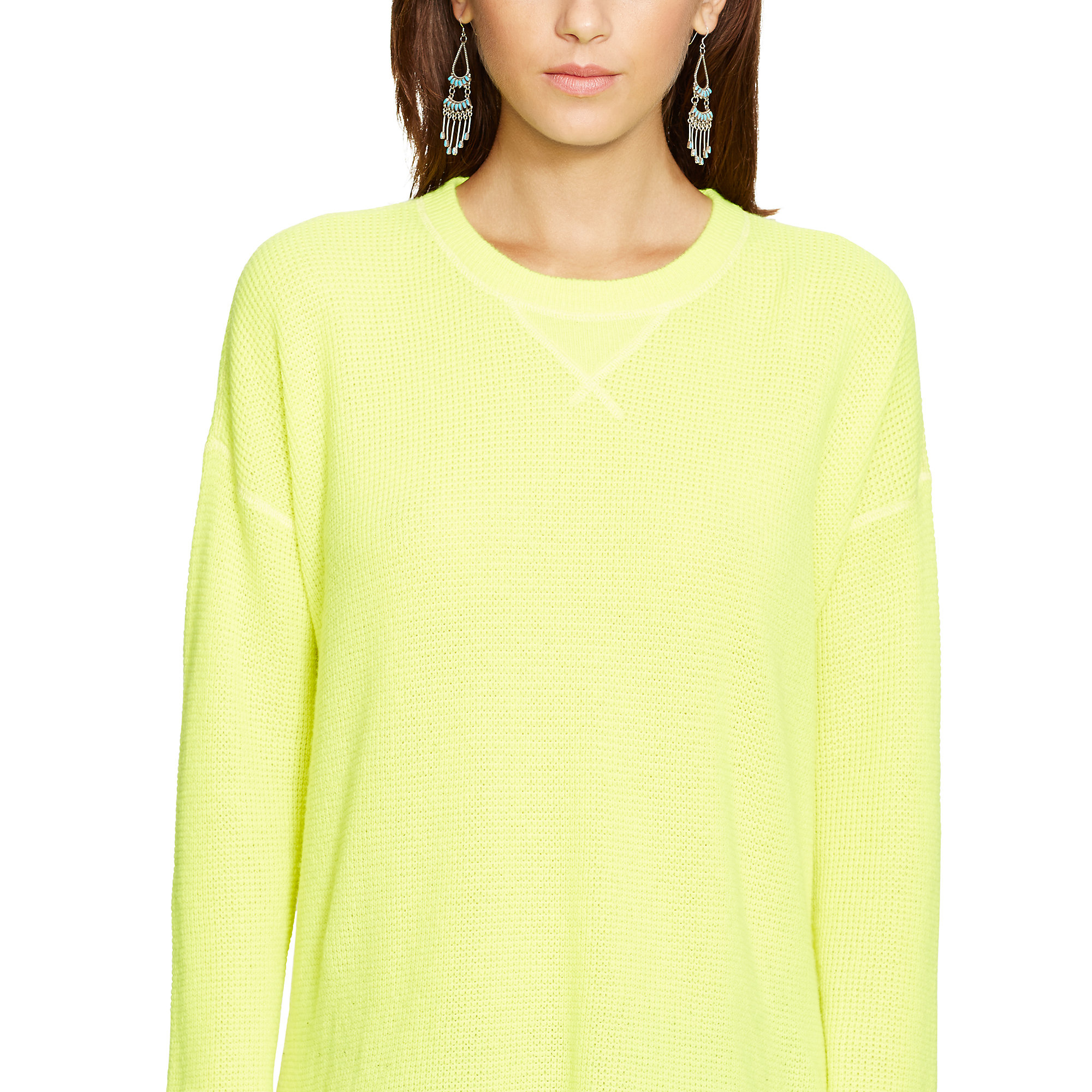 Polo ralph lauren Waffle-knit Cashmere Sweater in Yellow | Lyst