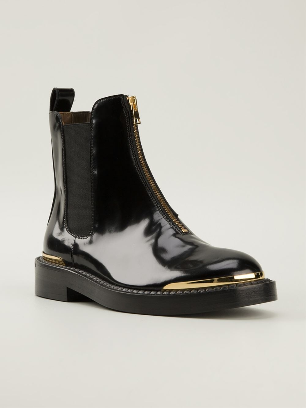 Marni 'Chelsea' Zip Front Boots in Black