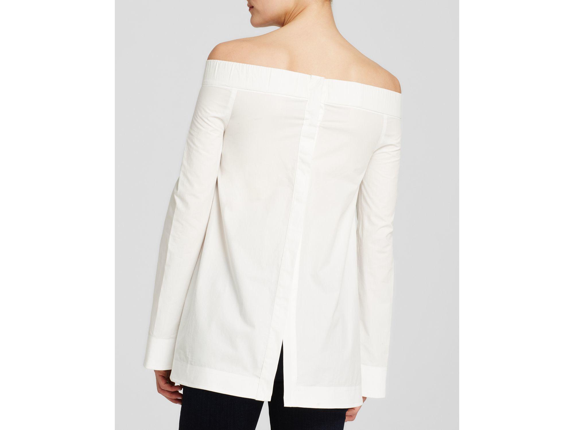 N nicholas Off Shoulder Bell Sleeve Top in White   Lyst